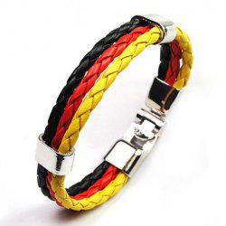 Multilayered Faux Leather Germany Bracelet - BLACK