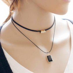 Vintage Multilayered Geometric Choker Necklace -