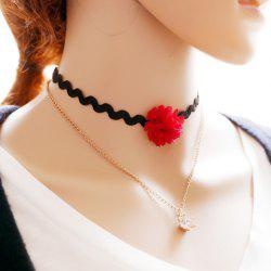 Vintage Multilayered Rhinestone Crown Choker Necklace For Women -