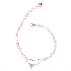 Stylish Multilayer Heart Anklet For Women