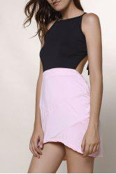Backless Asymmetrical Skimpy Club Dress -