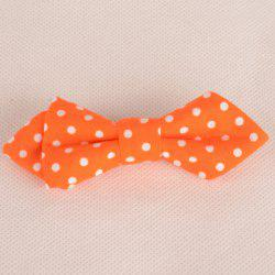 Chic Polka Dot Pattern Candy Color Double-Deck Bow Tie For Kids - ORANGE