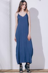 Casual Spaghetti Strap Maxi Summer Dress