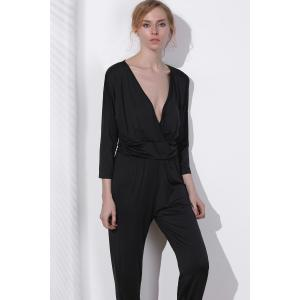 Surplice V Neck Jumpsuit -