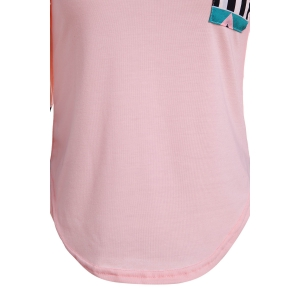Color Block Geometry Pocket T-Shirt - SHALLOW PINK S
