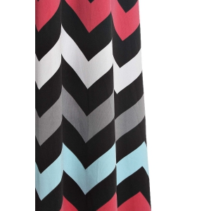 Sleeveless Maxi Chevron Tank Dress - WATERMELON RED L
