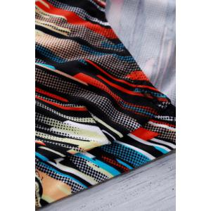 Men's Elastic Inclined Colorful Stripe Swimming Trunks -