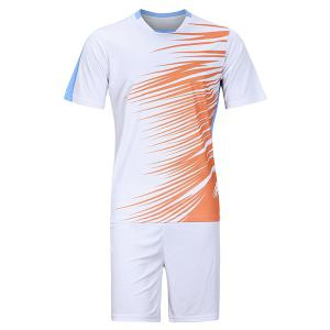 Men's Hot Sale Sports Style Football Training Jersey Set (T-Shirt+Shorts) - White - 3xl