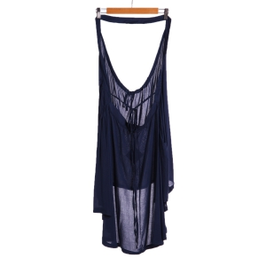 Stylish Halter Drawstring Swing Tunic Women's Dress -