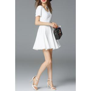 Ruched Mini Flare Dress -