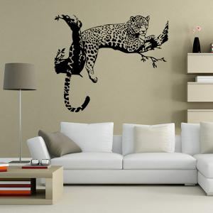 Leopard Pattern Wall Sticker Animals For Home Decoration - BLACK