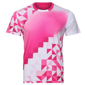 Men's Round Collar Badminton Training Quick Dry T-Shirt