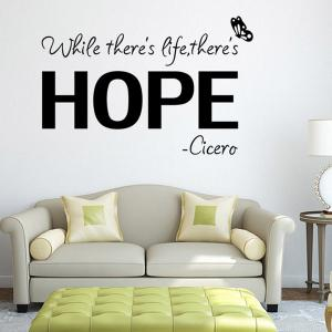Vinly Letters Pattern Quote Wall Stickers For Bedrooms -