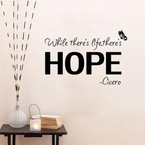 Vinly Letters Pattern Quote Wall Stickers For Bedrooms - BLACK