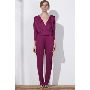 Surplice V Neck Jumpsuit