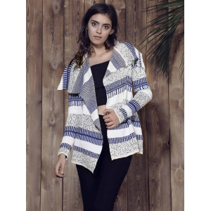 Stylish Long Sleeve Knitted Irregular Loose-Fitting Women's Cardigan -