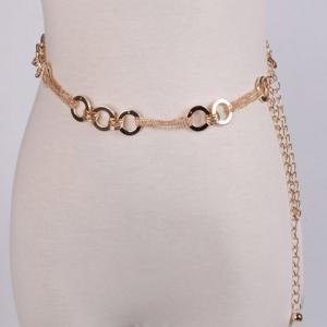 Metal Hoop Chain Belt