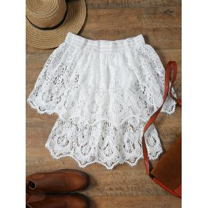 Stylish Off The Shoulder Half Sleeve Lace Women's Cover-Up