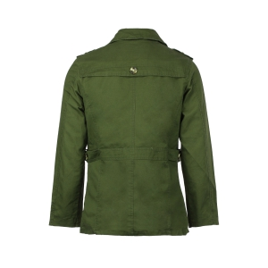 Turn-Down Collar Epaulet Single Breasted Long Sleeve Men's Trench Coat - ARMY GREEN XL