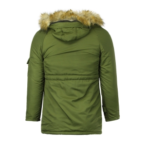 Color Block Multi-Zipper Stereo Patch Pocket Detachable Hooded Long Sleeves Men's Fitted Coat -