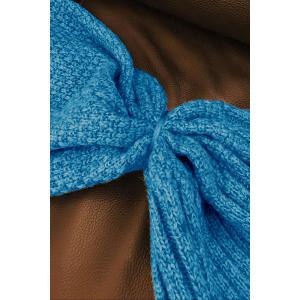 Blue Knitted Sleep Cell Mermaid Blanket - BLUE ONE SIZE(FIT SIZE XS TO M)