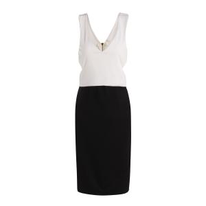 Sexy Plunging Neck Sleeveless Color Block Hollow Out Women's Club Dress