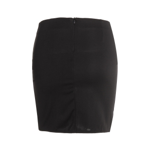 Trendy Solid Color Bodycon Wraparound Skirt For Women -