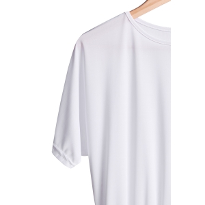 Stylish Round Collar Short Sleeve Pure Color Women's Midi Dress - WHITE S
