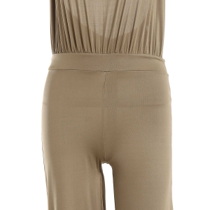 Sexy Round Collar Sleeveless Backless Solid Color Women's Jumpsuit -