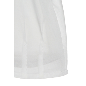 OL Style V-Neck Candy Color Sleeveless Chiffon Blouse For Women - WHITE S