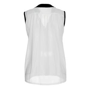 OL Style V-Neck Candy Color Sleeveless Chiffon Blouse For Women -