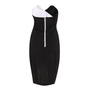 Sexy Strapless Sleeveless Spliced Asymmetrical Women's Dress -