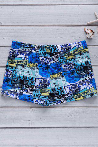 Outfits Men's Colorful Printing Elastic Swimming Trunks