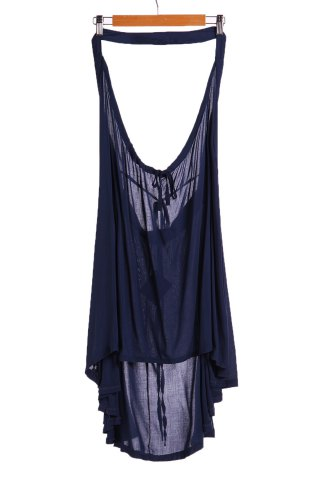 Cheap Stylish Halter Drawstring Swing Tunic Women's Dress