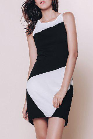 Affordable Color Block Mini Sheath Dresses
