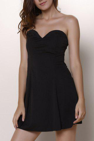 Shops Sexy Strapless Open Back Dress For Women BLACK L