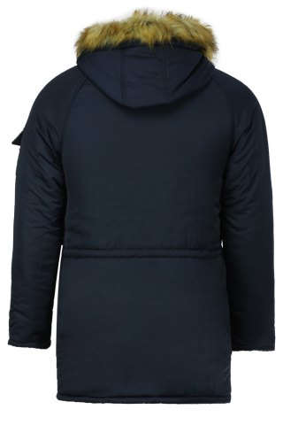 Shops Color Block Multi-Zipper Stereo Patch Pocket Detachable Hooded Long Sleeves Men's Fitted Coat - 2XL BLUE Mobile