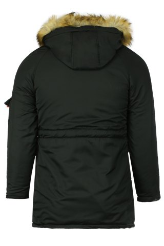 New Color Block Multi-Zipper Stereo Patch Pocket Detachable Hooded Long Sleeves Men's Fitted Coat - M BLACK Mobile