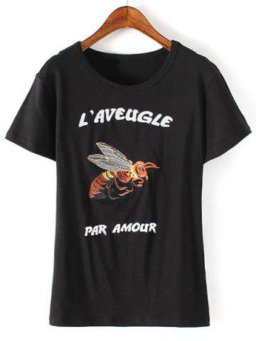 Shops Short Sleeve Embroidered T-Shirt