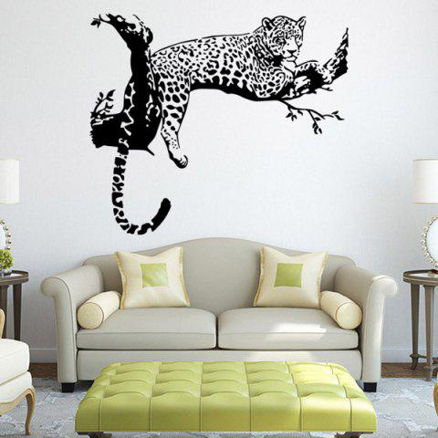 Online Leopard Pattern Wall Sticker Animals For Home Decoration BLACK