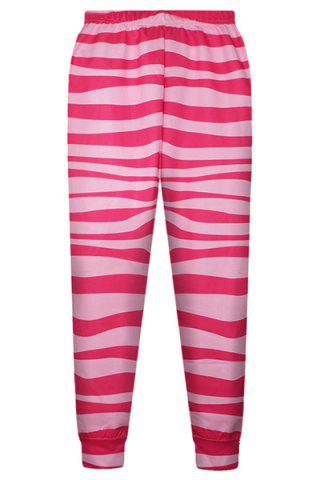 Shop Cute Elastic Waist Striped Pants For Women