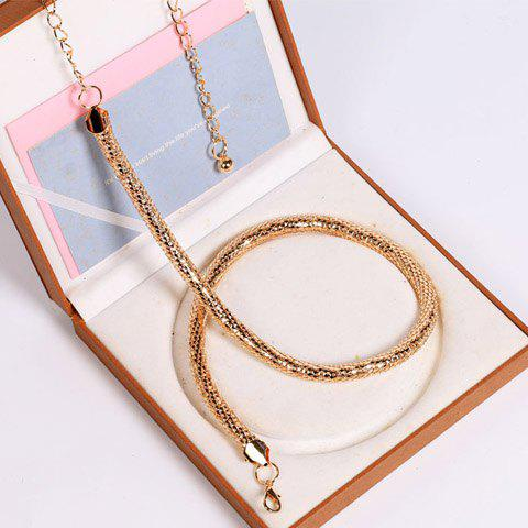 Sale Hollow Out Tassel Snack Chain Belt - GOLDEN  Mobile