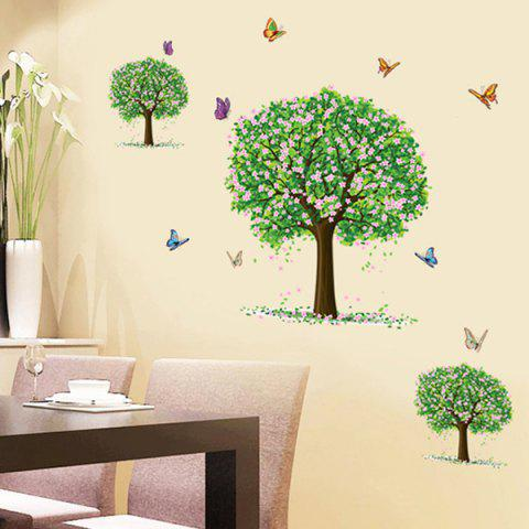 Unique Three Trees Pattern Wall Sticker For Bedroom Livingroom Decoration COLORMIX