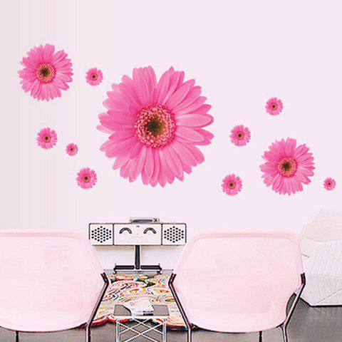 Hot Chic Daisy Pattern Wall Sticker For Bedroom Livingroom Decoration
