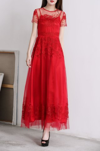 Outfit Sheer Tulle Long Dress
