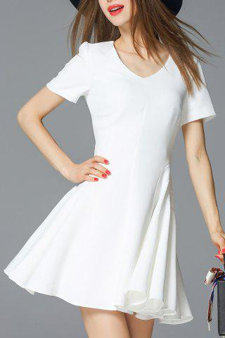 New Ruched Mini Flare Dress