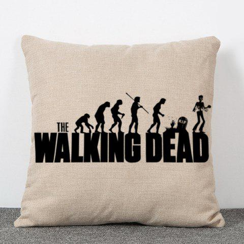 Shop Fashion The Walking Dead People Silhouette Pattern Square Shape Flax Pillowcase (Without Pillow Inner)