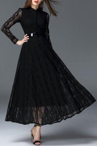 Discount Maxi Lace Flowy A Line Evening Dress