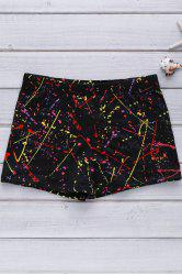 Men's Elastic Colorful Printing Swimming Trunks - COLORFUL