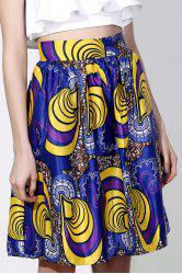 Vintage High-Waisted Printed Women's Pleated Skirt